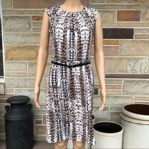 Dana Buchman Belted Sheath Dress